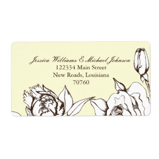 Vintage Flowers Personalized Shipping Labels