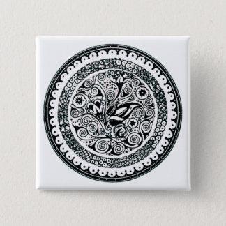 Vintage Flowers Pinback Button