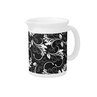 vintage flowers pitcher