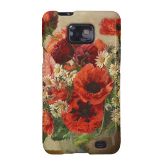 Vintage flowers poppies samsung galaxy SII covers