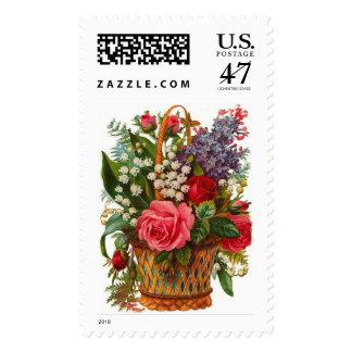 Vintage Flowers Postage