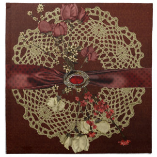 Vintage Flowers Printed Napkin