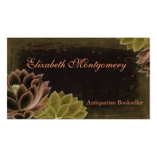 Vintage Flowers Professional Business Cards Business Card Templates
