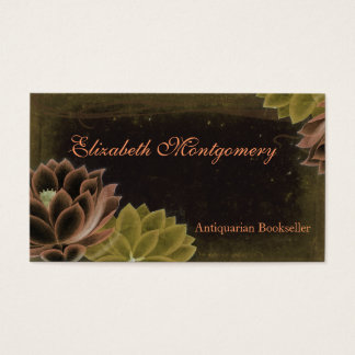 Vintage Flowers Professional Business Cards