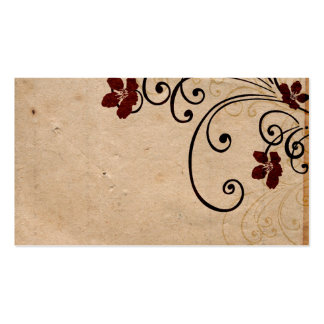 Vintage flowers Profile Card Business Card