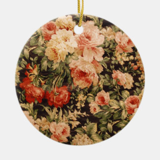 Vintage flowers rose texture 900s style ceramic ornament