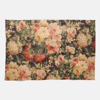 Vintage flowers rose texture 900s style hand towel