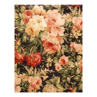 Vintage flowers rose texture 900s style letterhead