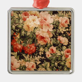 Vintage flowers rose texture 900s style metal ornament