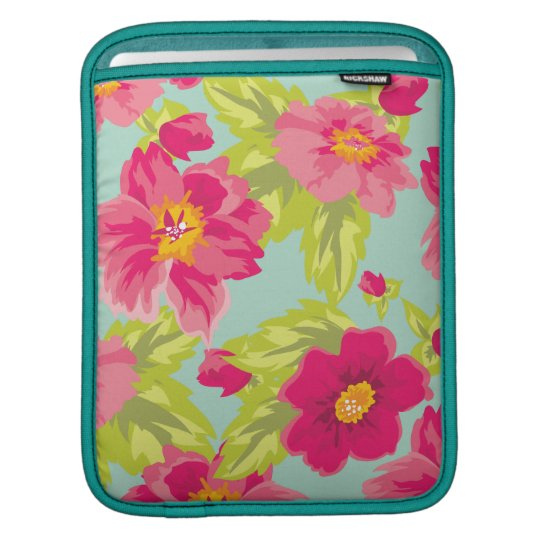 Vintage Flowers Sleeve For iPads