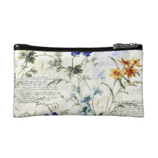 Vintage Flowers Small Cosmetic  Bag