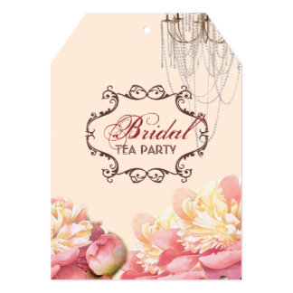 vintage flowers  spring bridal shower custom announcements