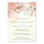 "Vintage Flowers Spring Garden Wedding Invitation 5"" X 7"" Invitation Card"