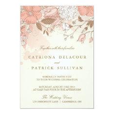 Vintage Flowers Spring Garden Wedding Invitation at Zazzle