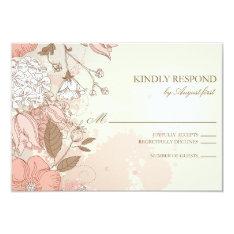 Vintage Flowers Spring Garden Wedding Rsvp Card at Zazzle