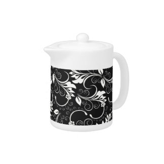 vintage flowers teapot