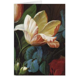 Vintage Flowers, Victorian Garden Tulip in Bloom Stationery Note Card