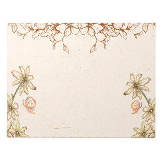 Vintage Flowers Wedding Note Pads