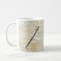 Vintage Flute Music Mug