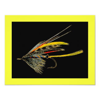 Vintage Fly Fishing art Custom Announcements