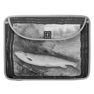 Vintage Fly Fishing art MacBook Pro Sleeve