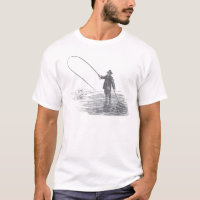 Vintage Fly Fishing Art T-Shirt
