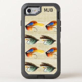 Vintage Fly Fishing Flies Monogrammed Premium OtterBox Defender iPhone 7 Case