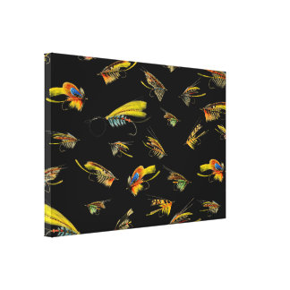 Vintage Fly Fishing lures Canvas Print