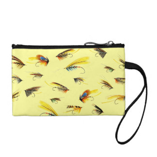 Vintage Fly Fishing lures Coin Purse