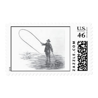 Vintage Fly Fishing Stamps