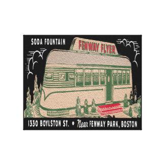 Vintage Flyer Diner Oil Canvas Print