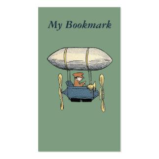 Vintage Flying Balloon & Propeller Car Bookmark Business Card