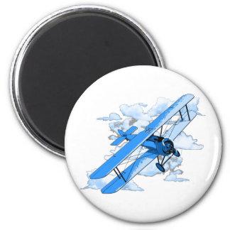 Vintage Flying Biplane Magnet