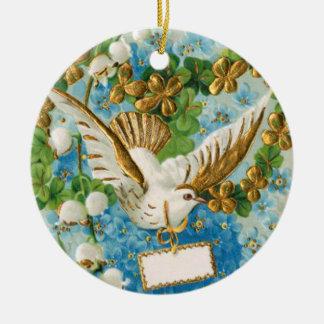 Vintage flying dove merry christmas holiday christmas tree ornament