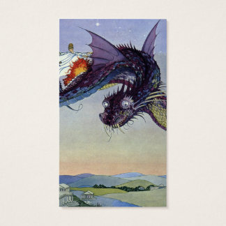 Vintage Flying Dragon Mythical Creature Business Card