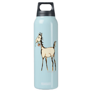 Vintage Foal with Flower Insulated Water Bottle