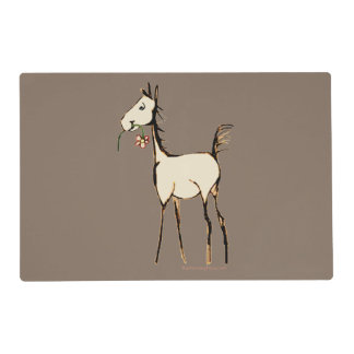 Vintage Foal with Flower Placemat