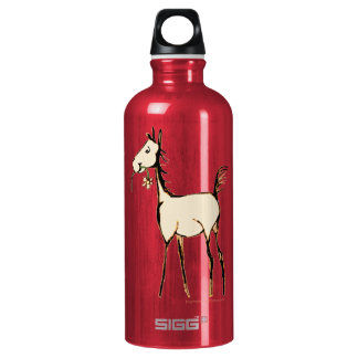 Vintage Foal with Flower Water Bottle