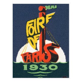 Vintage Foire De Paris Mai Postcard
