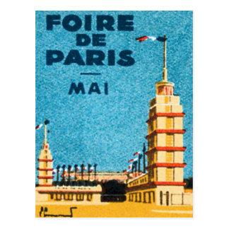 Vintage Foire De Paris Postcard