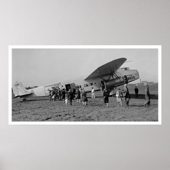 Vintage Fokker F-32 Poster Universal Airlines 1929