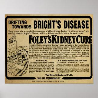 Vintage Foley's Kidney Cure Brights Disease Print