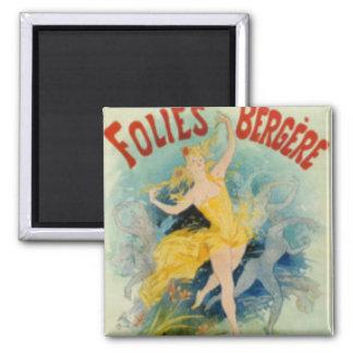 Vintage Folies Bergere Magnet