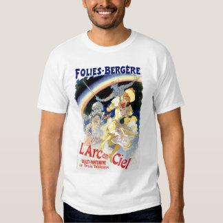 Vintage Folies Bergère rainbow ballet T-shirt