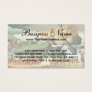 Vintage Folk Art, Noah's Ark by Edward Hicks Business Card