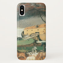 Vintage Folk Art, Noah's Ark by Edward Hicks iPhone X Case
