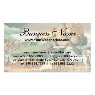 Vintage Folk Art, Noah's Ark by Edward Hicks Double-Sided Standard Business Cards (Pack Of 100)