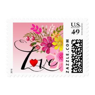 Vintage Folklore Floral Love | pink Stamp