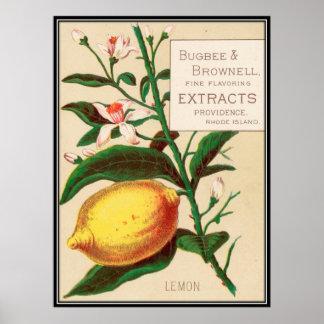 Vintage : food advertising - poster
