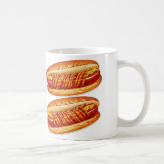 Vintage Food Bacon Wrapped Hot Dogs Coffee Mug